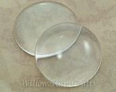 10 Pack 30mm Circle Glass Cabochon  (09-11-690)