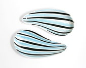Mid Century Modern Asymmetrical Stripe Dishes Made in Italy