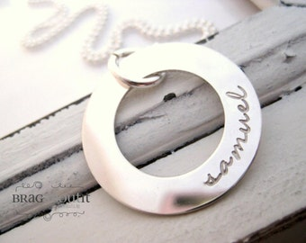 Hand Stamped Necklace . Personalized Necklce Jewelry . Hand Stamped Personalized Necklace . Brag About It . Forever & Infinity