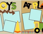 Boys At Play 2-page 12x12 do-it-yourself scrapbook kit