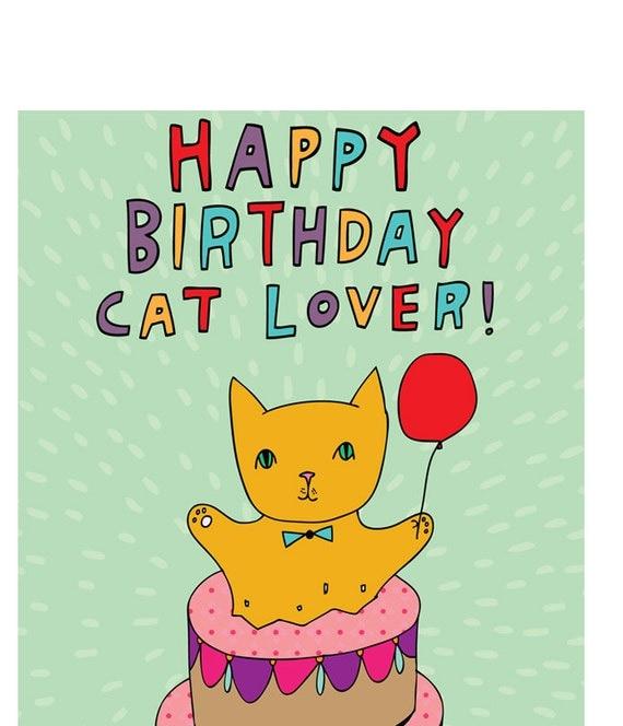 birthday card happy birthday cat lover