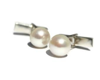 Pearl Cufflinks, gifts for Mother's Day, mothers day gift ideas,  wedding favour