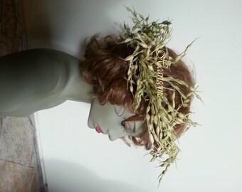 Head wreath man woman harvest God oats grain natural fairy fairie nymph country