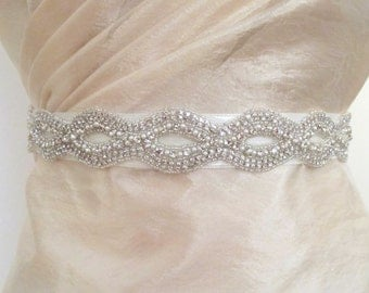 Bridal Belts with Pearls Rhinestones Sashes Crystal Pearl Beaded  Wedding Belt
