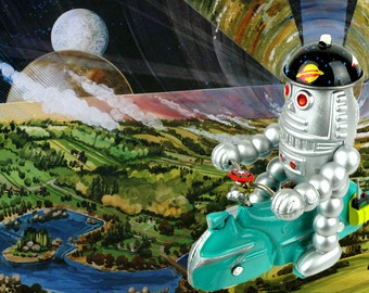 Baby robot space patrol scooter