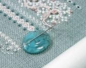 Turquoise Vintage Button Needle Minder Beaded Needle Magnet Cross Stitch Hardanger Needlepoint Gadget DIY Crafts Needle Keeper