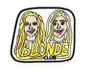 Blonde Club Iron On Patch