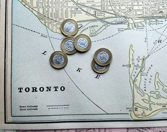 1891 Antique Street Map of Toronto, Ontario - With Montreal Map on Reverse