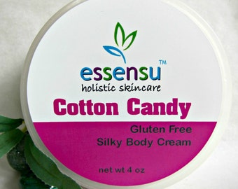 Cotton Candy Replenishing Silky Luxury Body Cream With Vegan Silk Protein | No Gluten , No Parabens , Phthalates | Or Customize Scent - 4 oz
