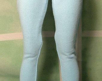Light blue leggings for slim MSD dollfie, minifee, 1/4 bjd DOLL