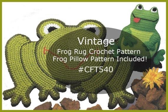 frog rug pattern crochet frog pillow pattern crochet vintage. Black Bedroom Furniture Sets. Home Design Ideas