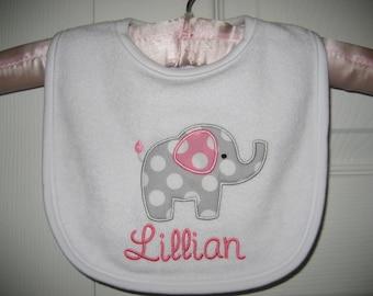 Boutique Monogrammed Elephant bib