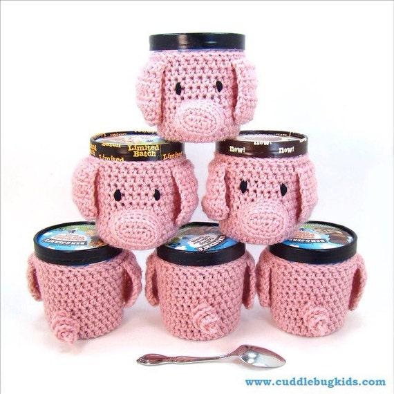 Crochet Pig Pattern Ice Cream Cozy Crochet Pattern Crochet