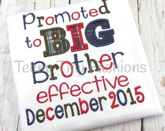 Promoted to Big Brother Shirt ~ Big Brother Announcement Shirt ~ Big Bro Shirt ~ Big Brother Outfit ~ I'm Going to be a Big Brother