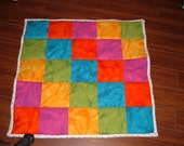 Colorful Flannel Baby Quilt