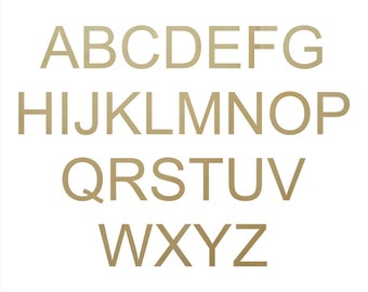 Wooden Craft Letters in Arial Font - unpainted letter, alphabet letters, wooden alphabet, wooden initials, wood initials, plywood letters