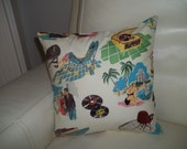 Throw Pillow Cover Mid Century Modern 12 x 12 Pillow Cover Retro 1950's Pillow Cover