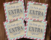 LDS Young Womens Girls Camp Pillow Treats- Gift Tags, Cards- (6) 3x3 Cards- Instant download