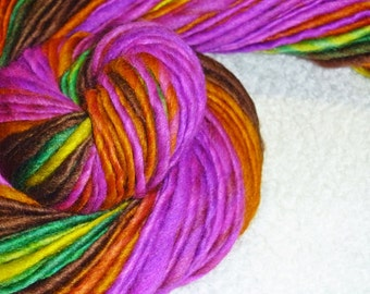 Neon Rain Forest I Handspun Art Yarn - 76 yards - Knit - Crochet - Weave - Macrame - Mixed Media - Superwash
