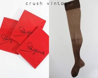 50s Elsa Schiaparelli Stockings / 1950s NOS Deadstock Nylon Hosiery Stockings / Schiaparelli Nylon Socks