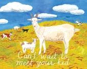 Goat Kid Card