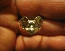 Mickey Mouse Ring 3-D Head Sterling ,  Price reduced to half.