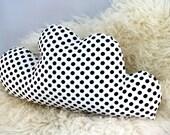 Black and White Polkadot Cloud Pillow - Small Size - Travel Pillow - Sleepover Pillow