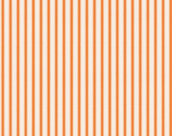 SPRING SALE - Happy Haunting - Stripe in Orange - Sku C4674 - 1 Yard - by Deena Rutter for Riley Blake Designs