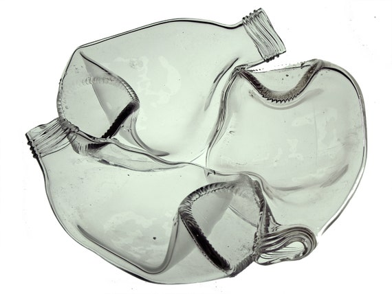 RESERVED for Cory >> 1 dozen Clear Triple Logo Dishes