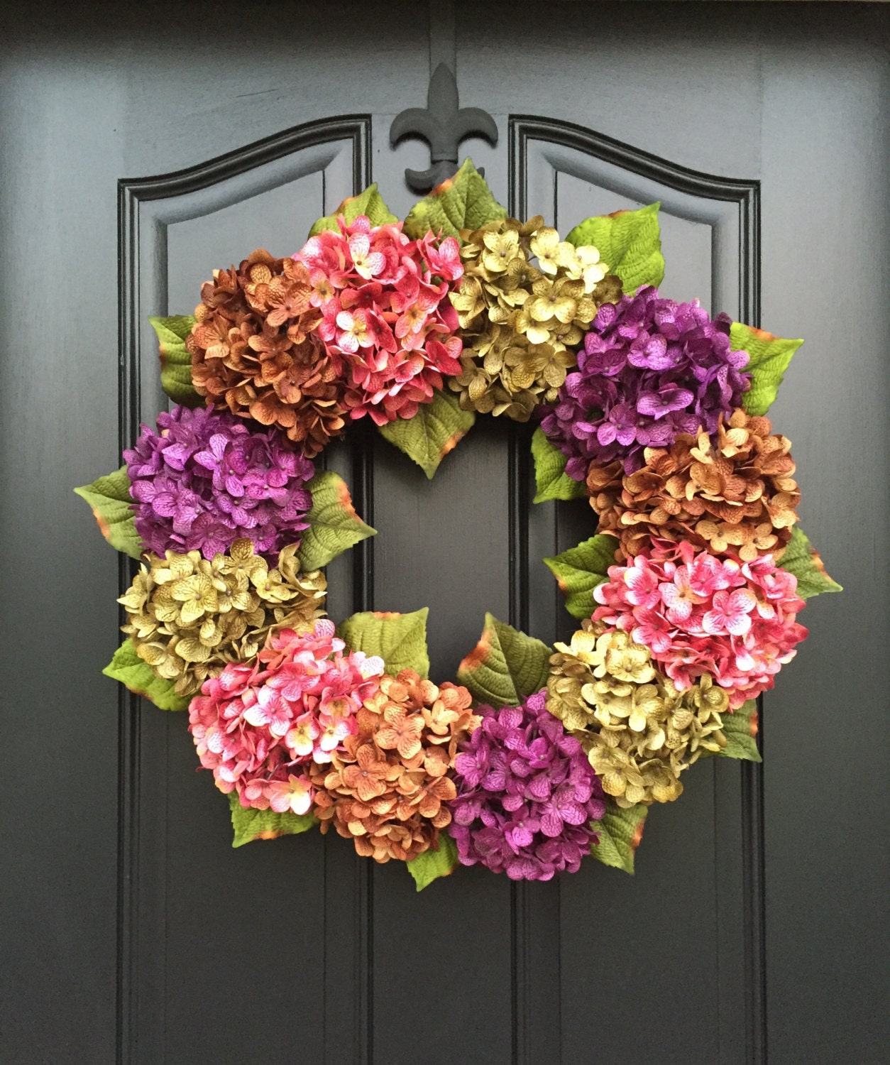 summer wreaths front door wreaths spring hydrangea wreath