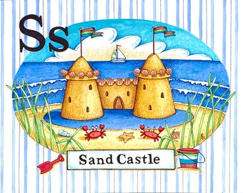 S is for Sandcastle