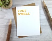 Congratulations Card in Orange, Just Swell