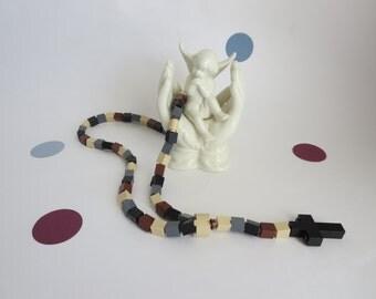 Catholic Rosary made of Lego Bricks - Camouflage Lego Bricks Rosary