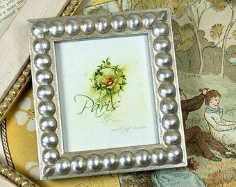 A Cute Little Narrow Silver Boule Photo Picture Frame