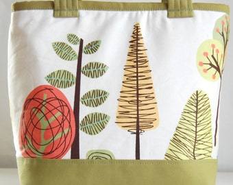Modern Woodland Fabric Tote Bag