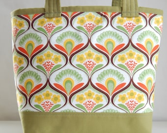 Floral Garden Fabric Tote Bag - READY TO SHIP