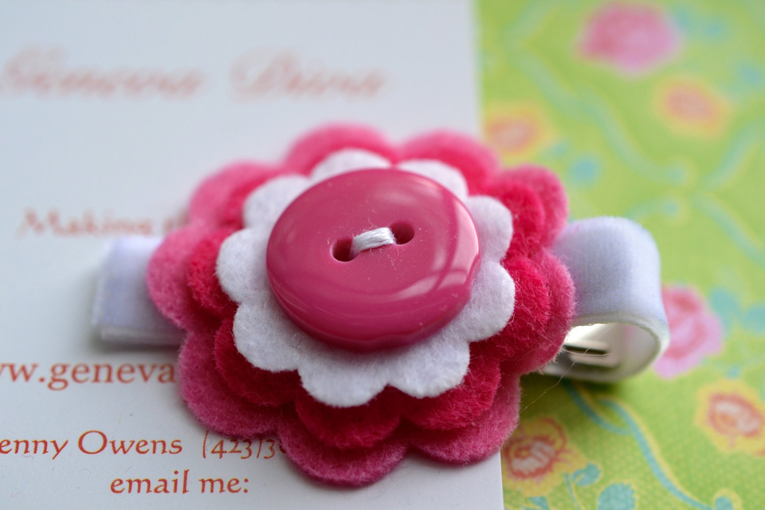 Shades of Pink Stacked Felt Flower Clip [E102616244480010M ...