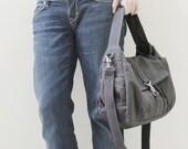 New Year SALE - 20% OFF Mini Classic in Dark Gray / Sling bag / Messenger / Crossbody / Hobo / Handbags / Purses / For Her / Women / Kids