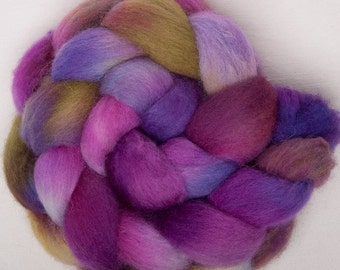 Cheviot 100g hand painted British wool tops roving fibre fiber