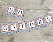 Florida Go Gators Chevron Printable Banner