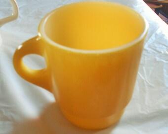 Fire King Yellow Coffee Mug, Anchor Hocking