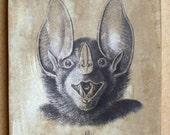 Bat Head #15 5x7 art tile