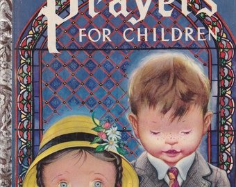 Prayers for Children Vintage Little Golden Book 1952 Very Good Condition Rare and OOP