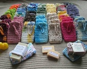 Reserved for RochelleRose - WHOLESALE SoapSavers, 20 Pack, USA Grown Cotton - Free Shipping - MTO