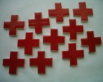 RDC - RED CROSS's Set - Ceramic Mosaic Tiles