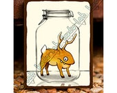 Derblin (Mason Jar Critter Art)