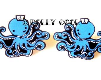 Octopus Earrings Sailor - super cute & Kawaii - by Dolly Cool