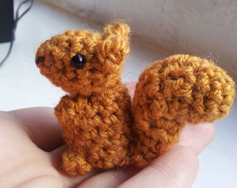 Crochet Squirrel Pattern - amigurumi PDF pattern for simple cute red squirrel plush