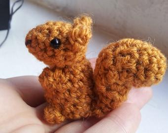 Crochet Squirrel Pattern - amigurumi PDF pattern for simple cute red squirrel plush