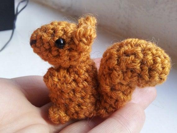 Amigurumi Squirrel Crochet Pattern : Bitty Squirrel Pattern crochet PDF pattern by MossMountain